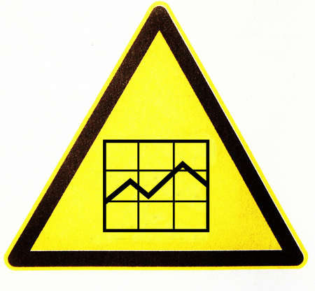 symbole: triangle with diagram Stock Photo