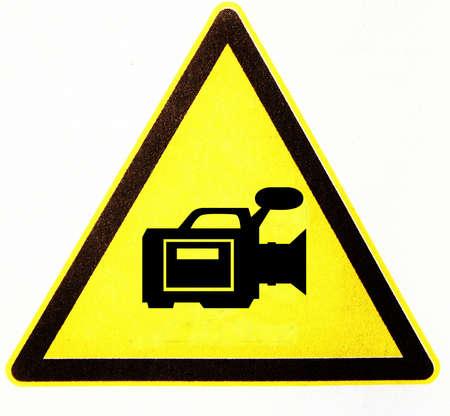 symbole: triangle with camera