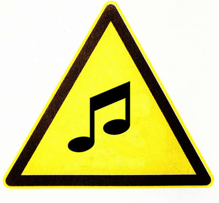 symbole: Warning triangle with music notes
