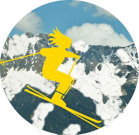 wintersport: Wintersport, skisports, symbole
