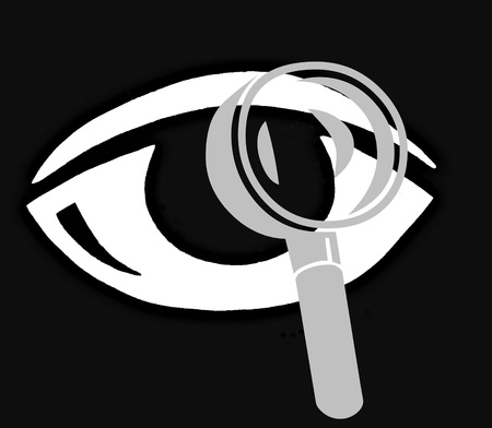 symbole: eye with magnifier