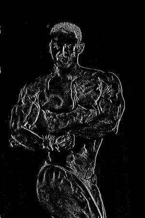 symbole: Relief of a bodybuilder