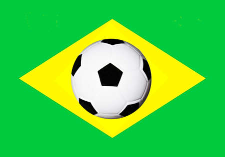 symbole: football nation brasil Stock Photo