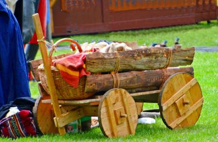 handcart: handcart antique Stock Photo