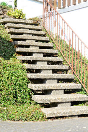 stepped: staircase with stone stepped