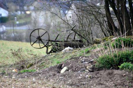rusts: old farm machinery