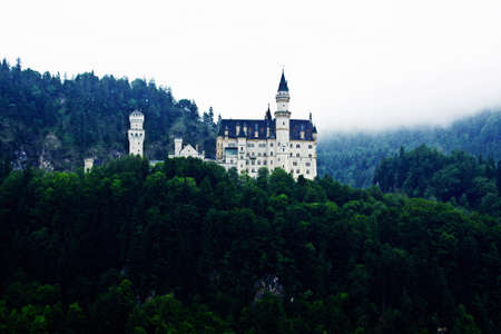architecture monumental: castle of Ludwig II. Editorial