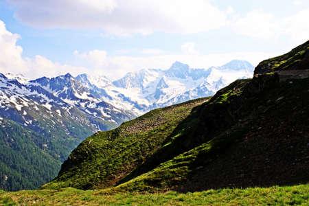 summits and glacier