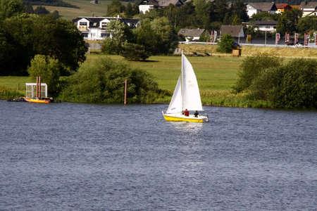 sailingboat: lake with sailing boat