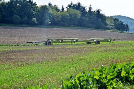 harvesters: harvesters Mower-trailer, Stock Photo