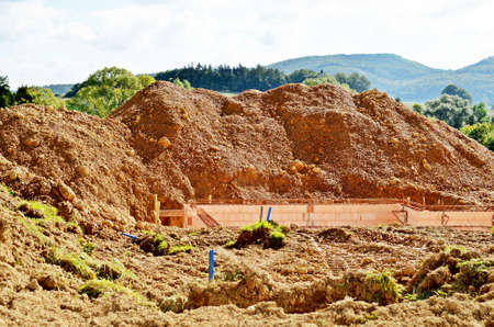 housebuilding: Building Site and Mount of earth
