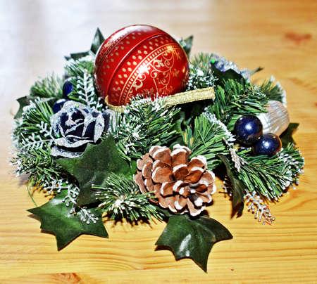 advent wreath: Corona de Adviento  Foto de archivo