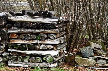 laminated: laminated chopped firewood