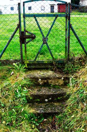 garden gate: Garden Gate Stock Photo