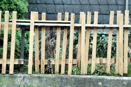 paling: wooden palisades Stock Photo