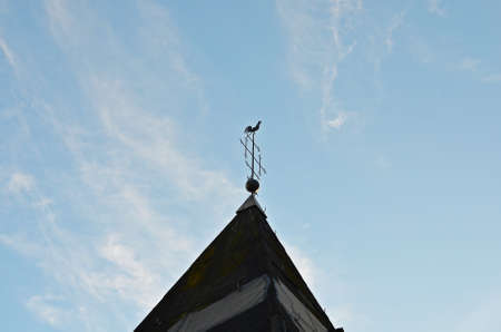 anemometer: Roof of a church with anemometer