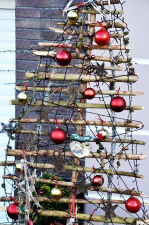 artificially: artificially Christmas- tree Stock Photo