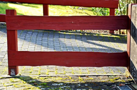 paling: wooden railing of a path outdoor