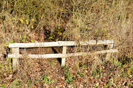 barrier: Wooden barrier
