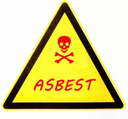 asbestos warning Stock Photo