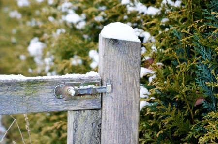 garden gate: wooden garden gate Stock Photo