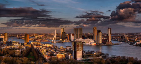 view of Rotterdam, sky line