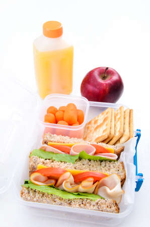 Box lunch sandwich for school or busy adults  photo
