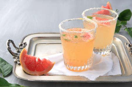 cordial: Summer refreshments grapefruit cordial with lemonade soda