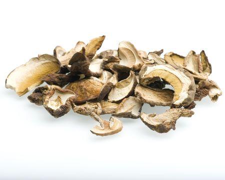porcini: Close-up Of Porcini Mushrooms On White background