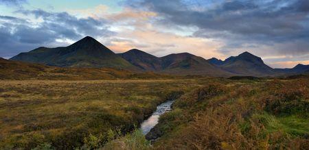 Glen Sligachan, Isle of Skye, Scotland,With The Black Cullin mountains In The Background photo