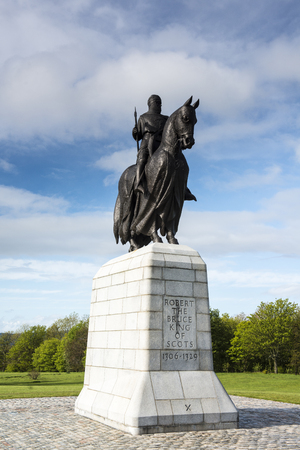 Robert the Bruce Statue by Pilkington Jackson at Bannockburn Visitor Centre, Stirling, Scotland.