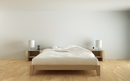 lit: chambre � coucher Banque d'images
