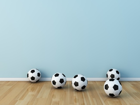 kids room soccerball Stock Photo - 13536046