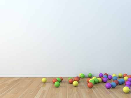 kids room ball Stock Photo
