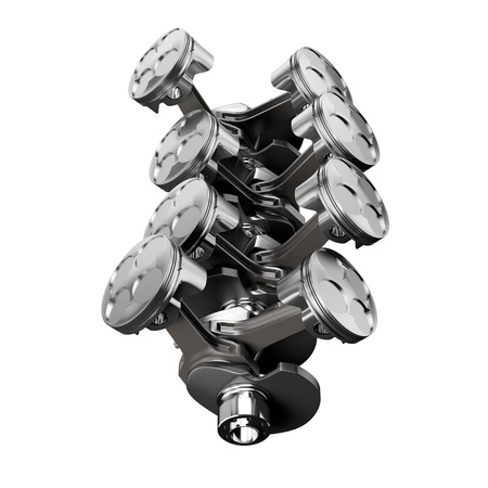 v cycle: V8 engine piston