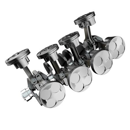V 型 8 気筒エンジンのピストン 写真素材 - 13535972