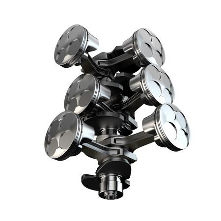 v cycle: V6 engine piston