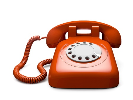 Classic 1970 - 1980 retro dial style red house telephone Stock Photo - 13535968