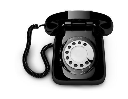 conventional: Classic retro dial style house telephone