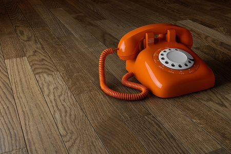 Classic 1970 - 1980 retro dial style red house telephone Stock Photo - 13536122