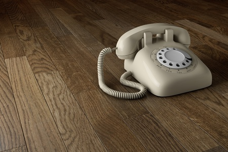 Classic retro dial style house telephone