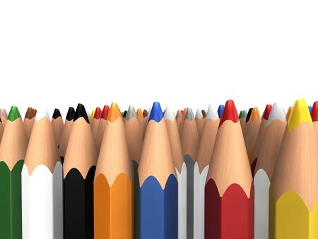 colored pencils Stock Photo - 13536289