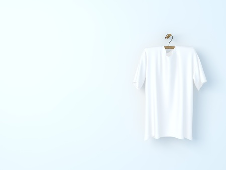 shirts on hangers: dress white
