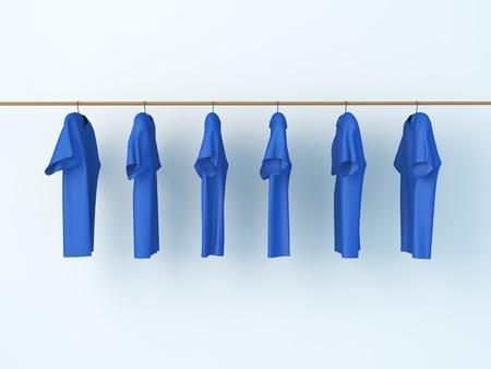 laundry room: dry T-shirt Stock Photo