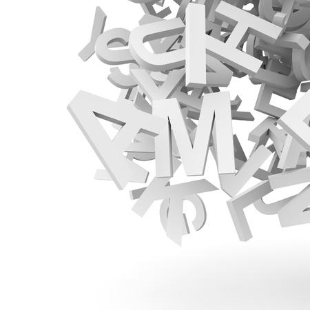 アルファベットと抽象的な背景