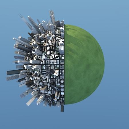 isolé miniature planète urbain chaotique