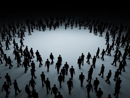 Duży tłum ludzi Zdjęcie Seryjne