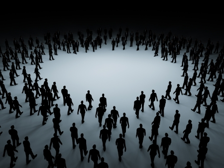 Grote menigte van mensen Stockfoto