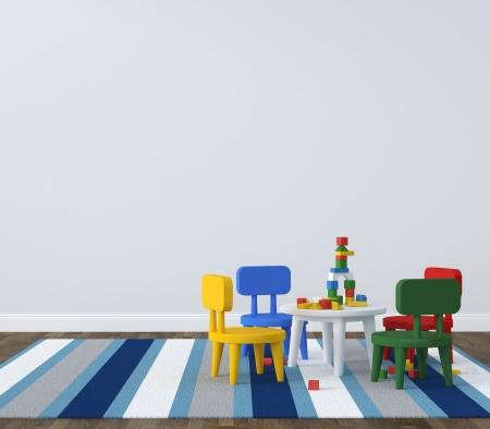 Interior of playroom kidsroom Standard-Bild