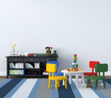 vivero: cuarto de jugar Foto de archivo